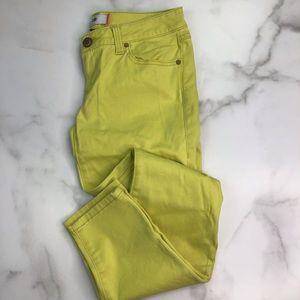 Cabi Skinny Jeans 4 Citron J16